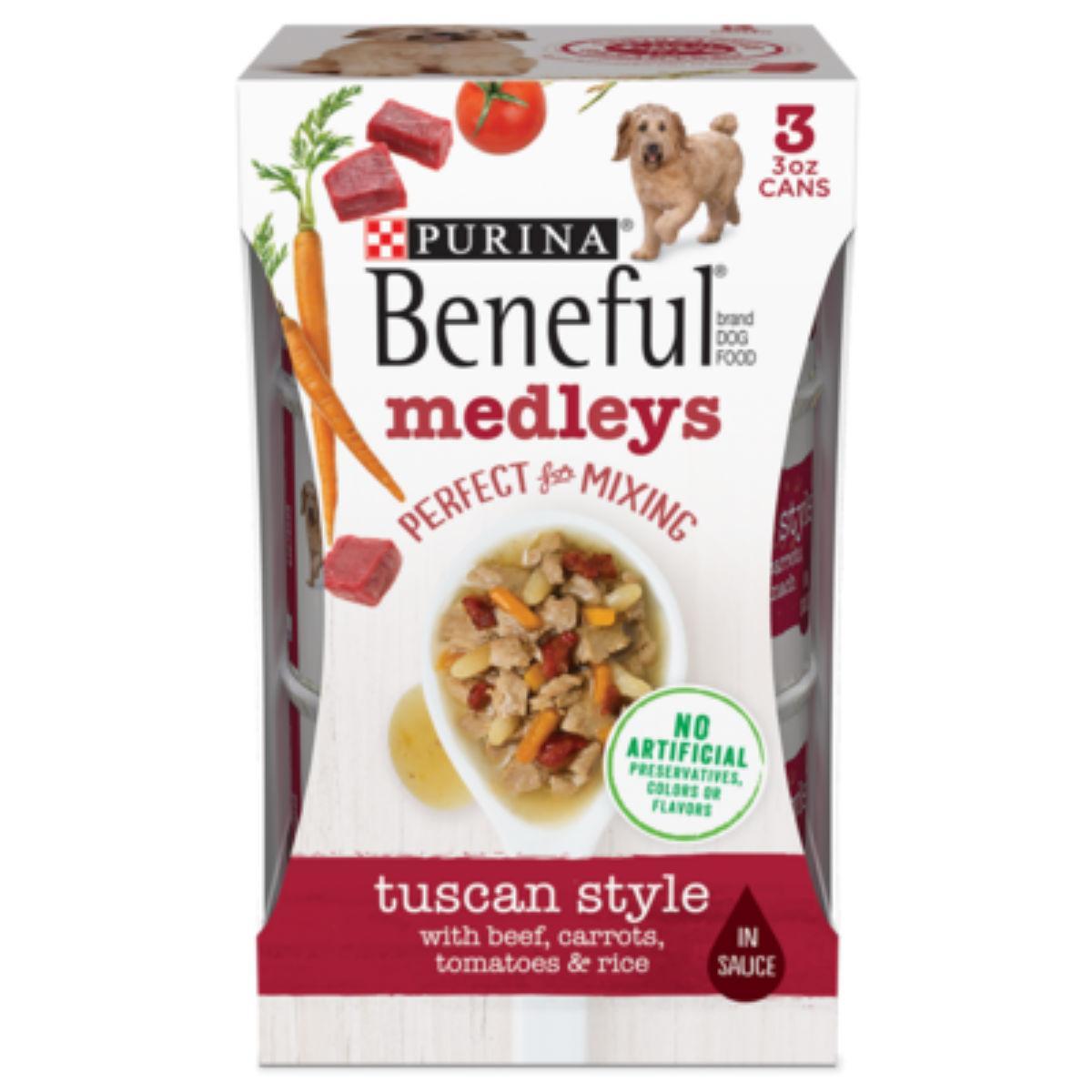 Purina Beneful Medleys Wet Dog Food - Tuscan Style