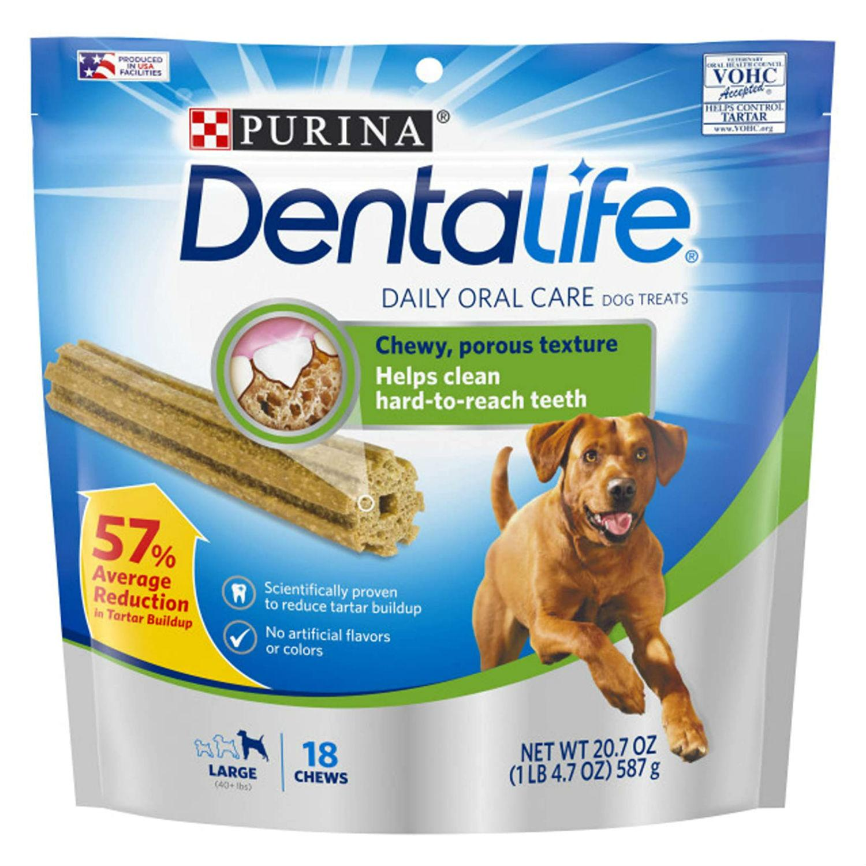 Purina Dentalife Daily Oral Care Dog Treats - Large