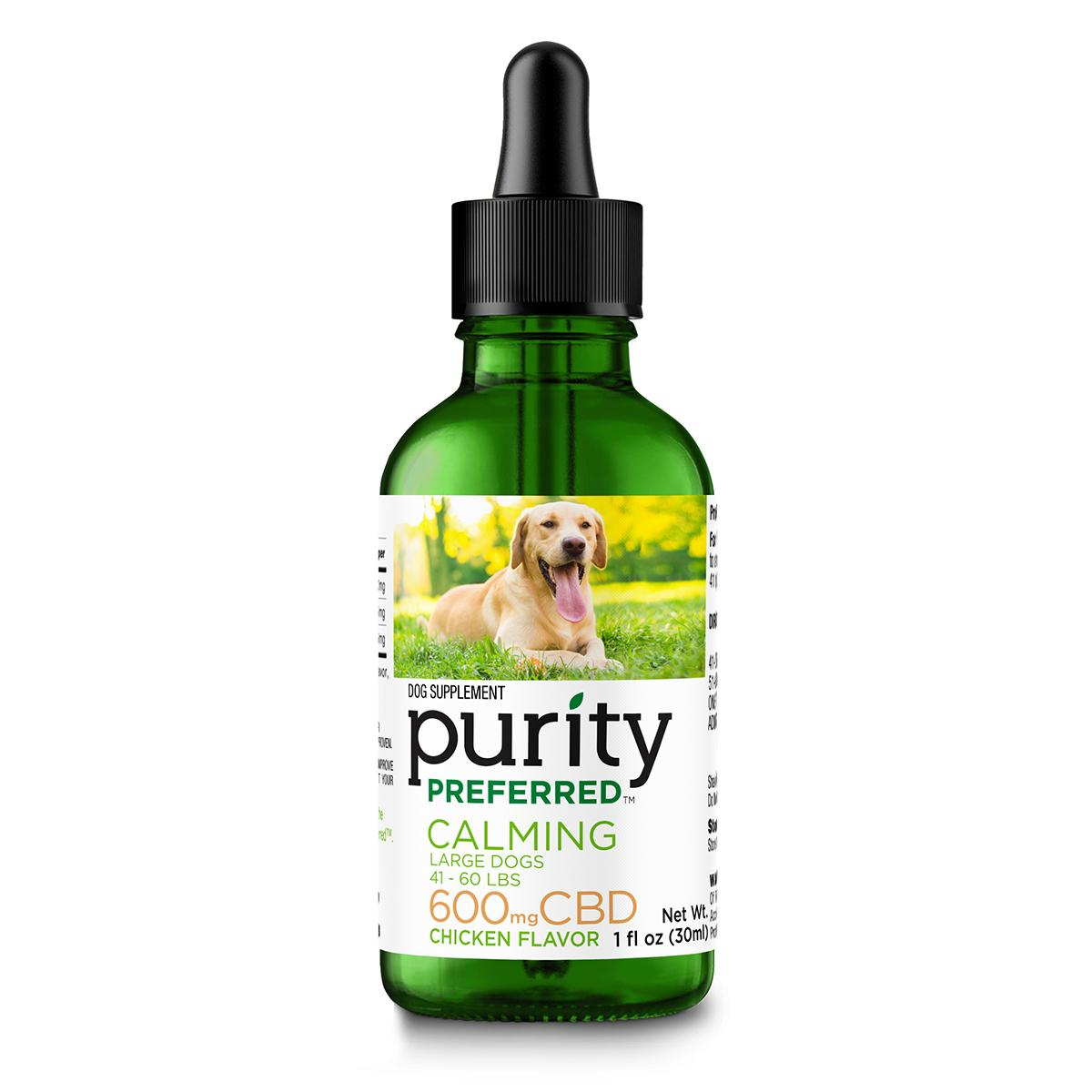 Purity Preferred CBD Calming Drops for Large Dogs - 600 mg_main