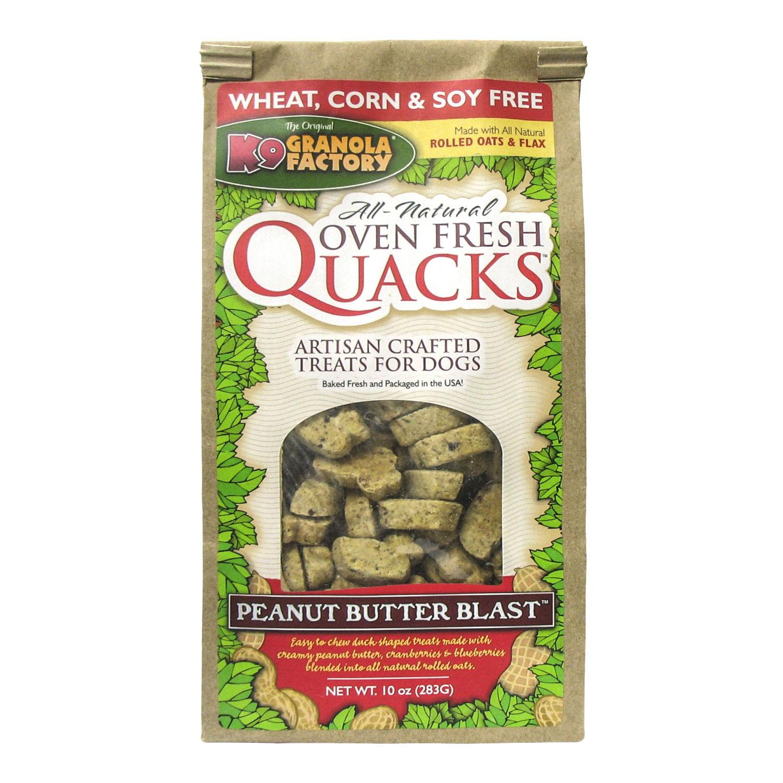 K9 Granola Factory Quacks Bakers Reserve Dog Treat - Peanut Butter Blast