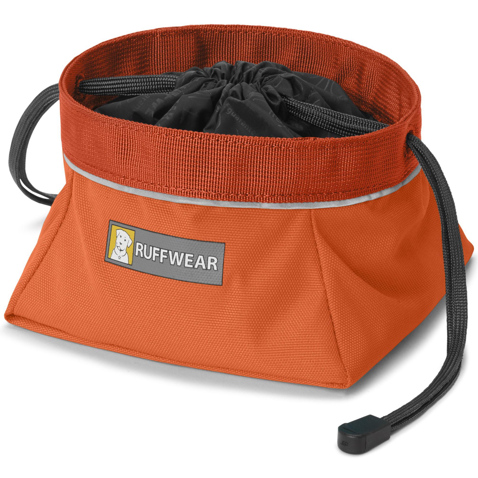 Quencher Cinch Top Dog Bowl by RuffWear - Pumpkin Orange