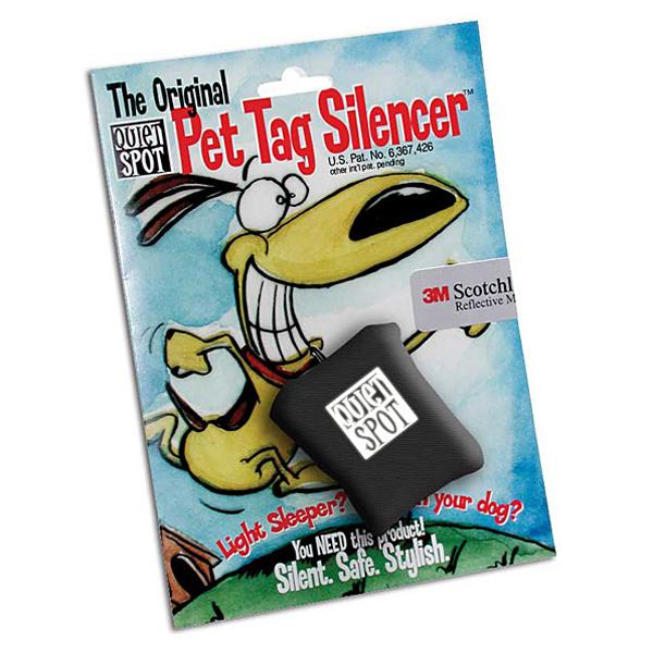Quiet Spot Pet Tag Silencer - Black