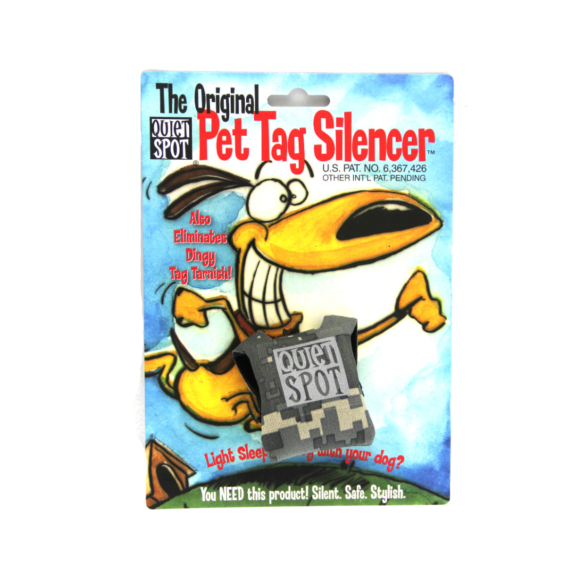 Quiet Spot Pet Tag Silencer - Digital Camo
