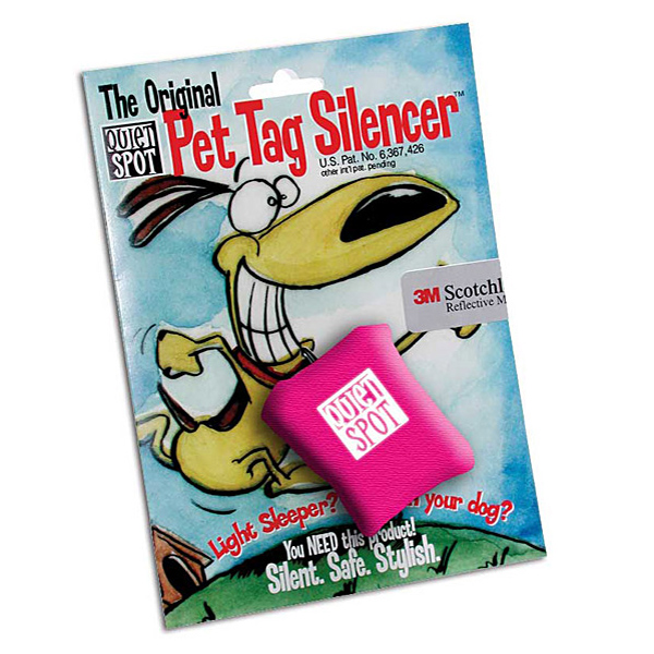 Quiet Spot Pet Tag Silencer - Pink