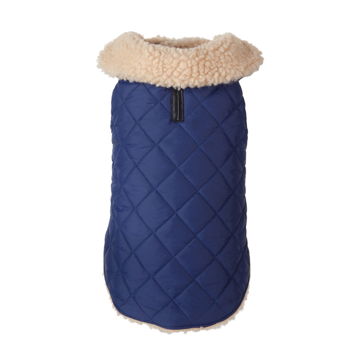 Quilted Shearling Dog Jacket - Navy