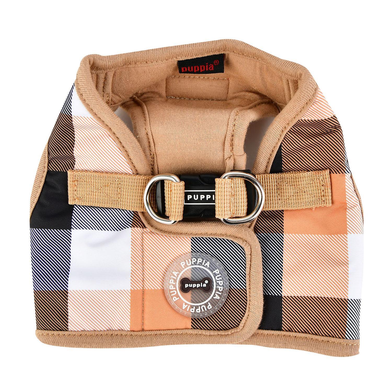 Quinn Plaid Vest Dog Harness by Puppia - Beige
