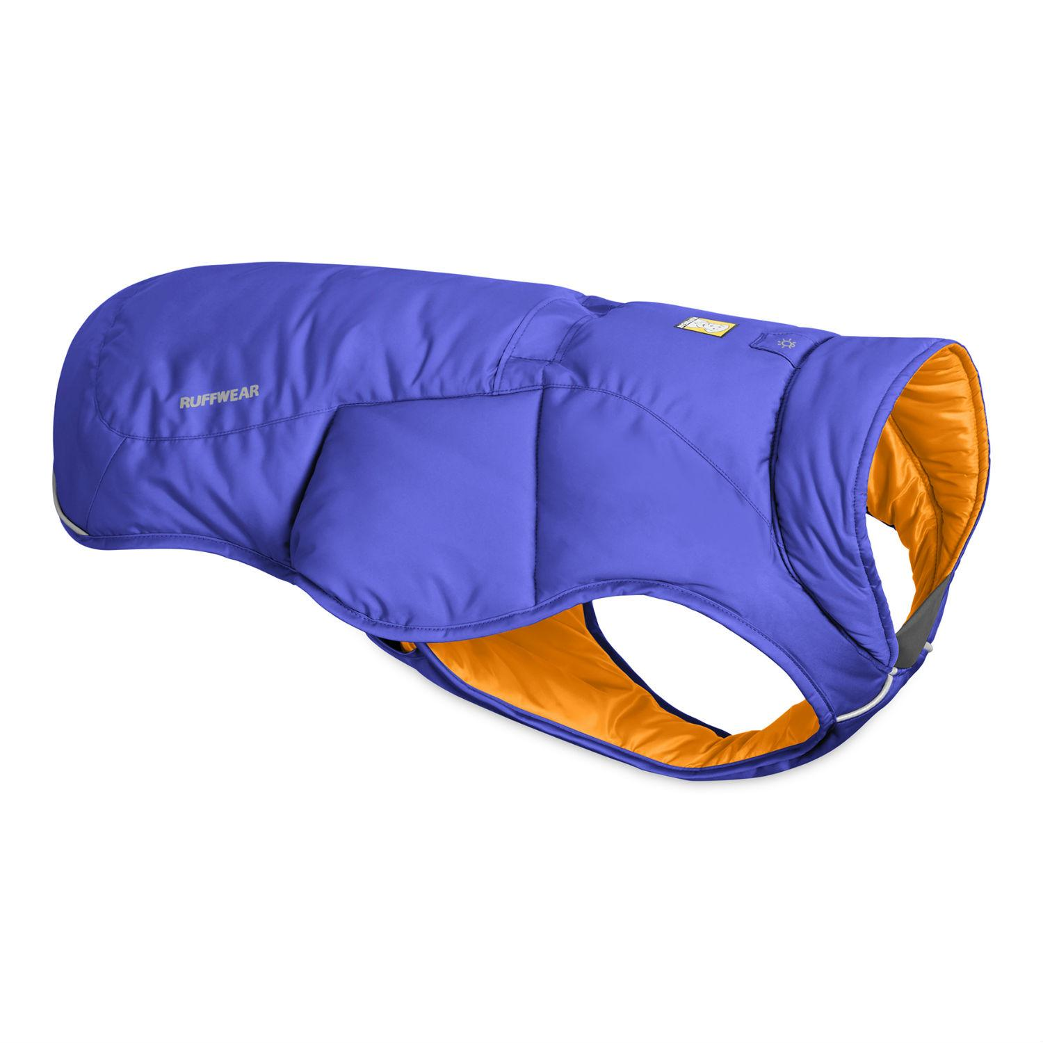 Quinzee  Insulated Dog Jacket by RuffWear - Huckleberry Blue