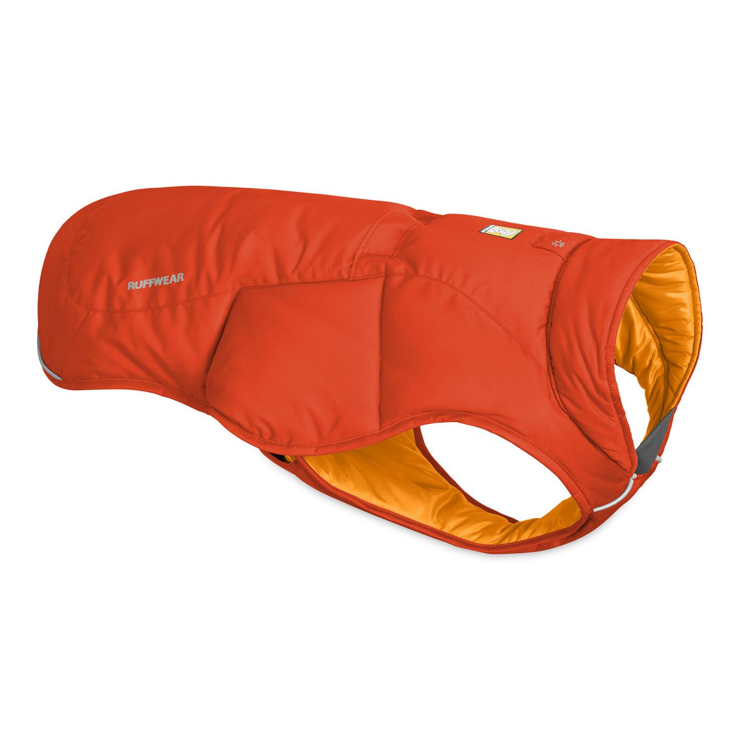Quinzee  Insulated Dog Jacket by RuffWear - Sockeye Red