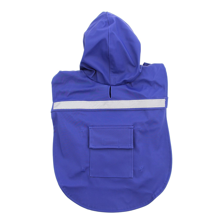 Dog Rain Jacket with Reflective Strip - Blue with Same Day ...