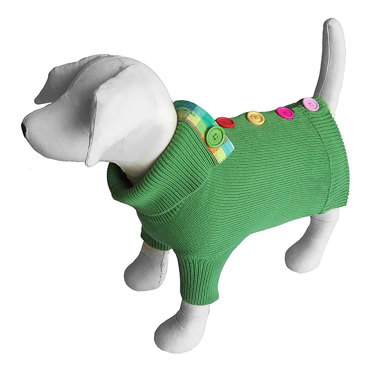 Rainbow Button Dog Sweater by Beverly Hills Dog - Green