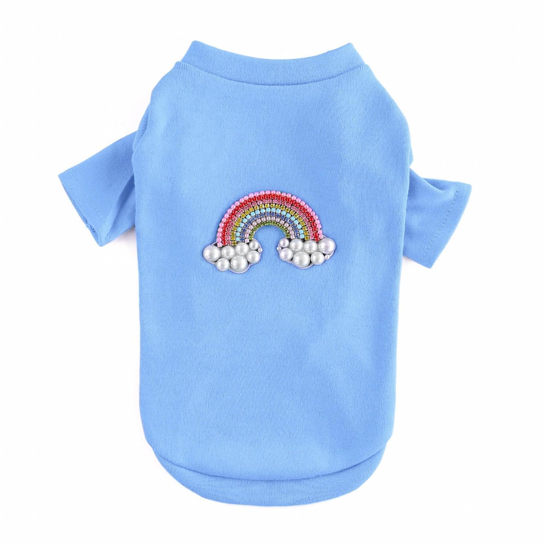 Rainbow Dog T-Shirt by Hello Doggie - Blue