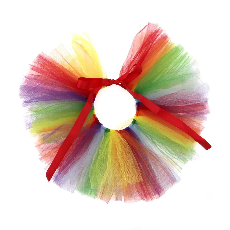 Rainbow Tulle Dog Tutu by Pawpatu