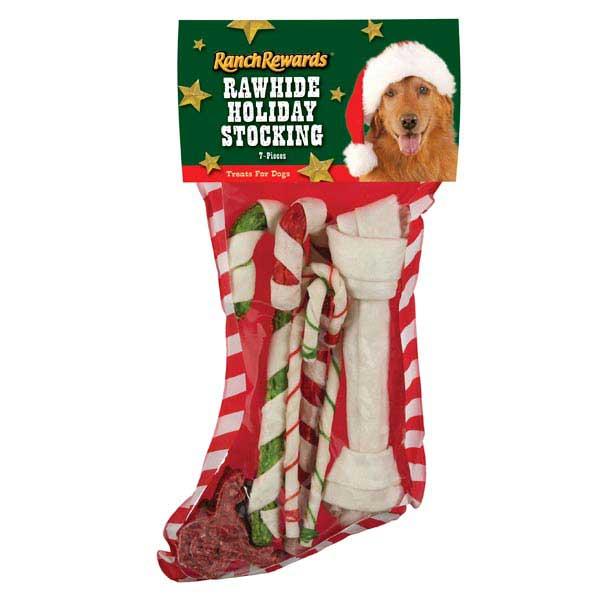 Ranch Rewards Rawhide Holiday Dog Stockings