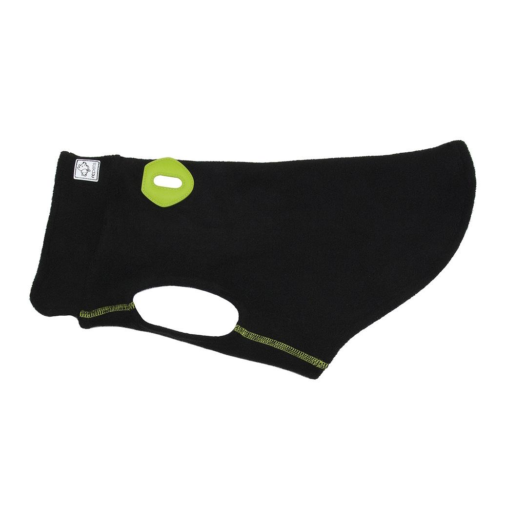 RC Pet Baseline Fleece Dog Pullover - Black and Lime