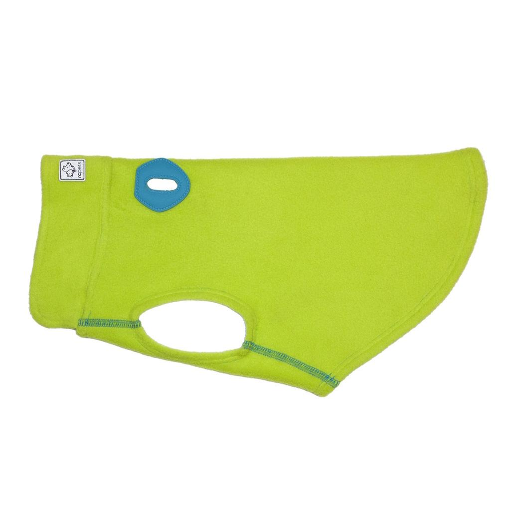 RC Pet Baseline Fleece Dog Pullover - Lime and Teal