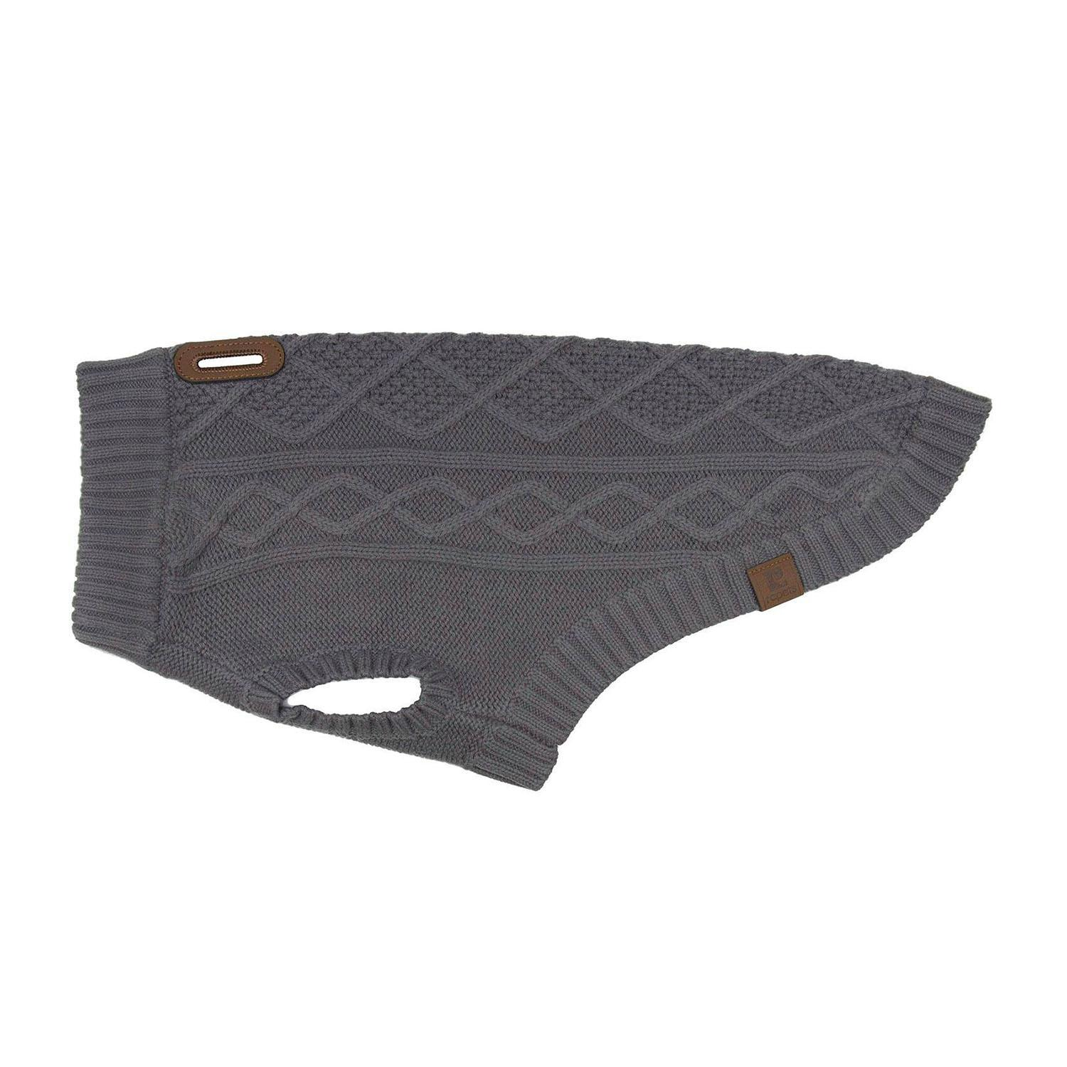RC Pet Cable Dog Sweater - Charcoal