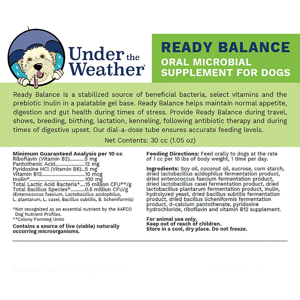 Ready Balance Probiotic Gel for Dogs by Under    | BaxterBoo