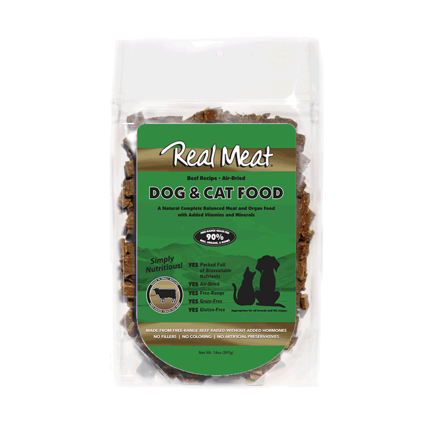 Real Meat Dog and Cat Food - Beef
