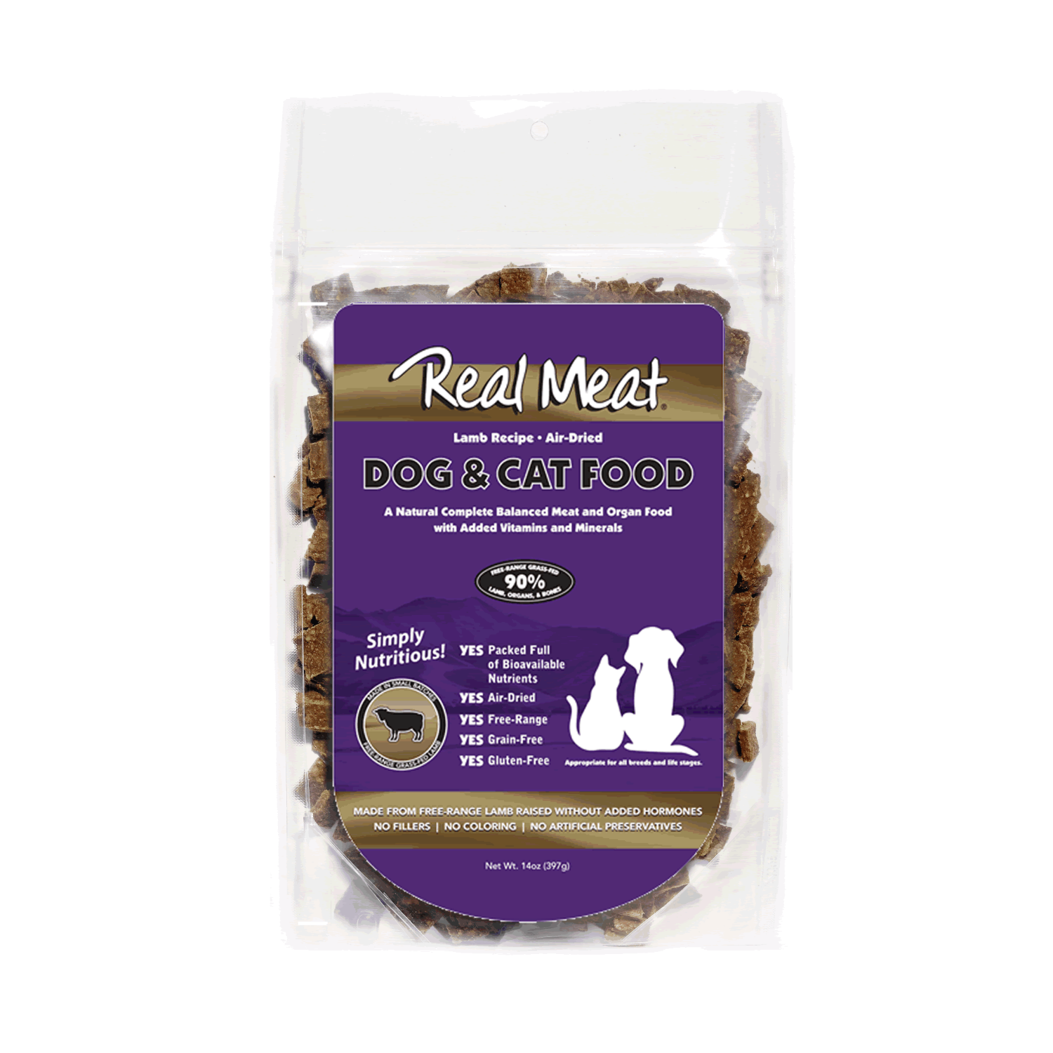 Real Meat Dog and Cat Food - Lamb