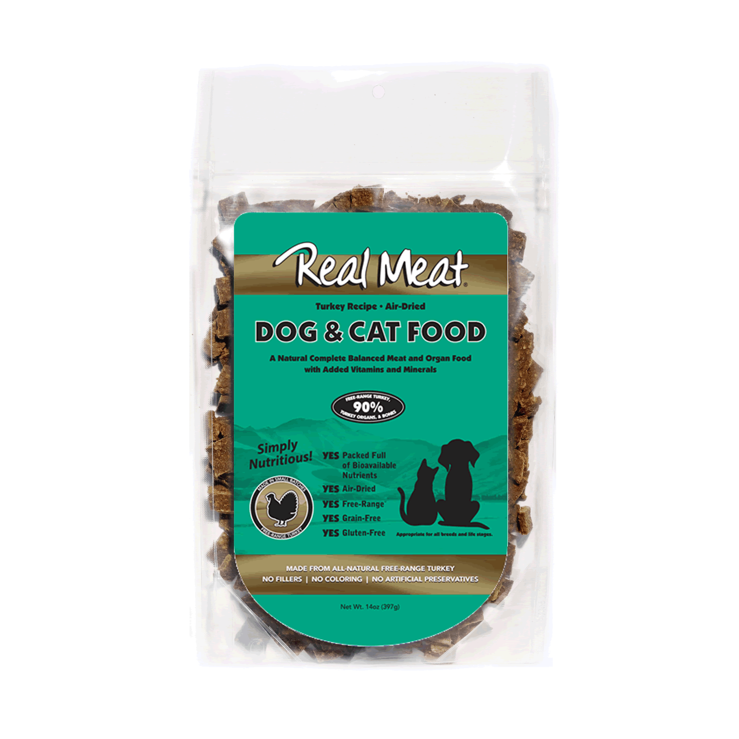 Real Meat Dog and Cat Food - Turkey