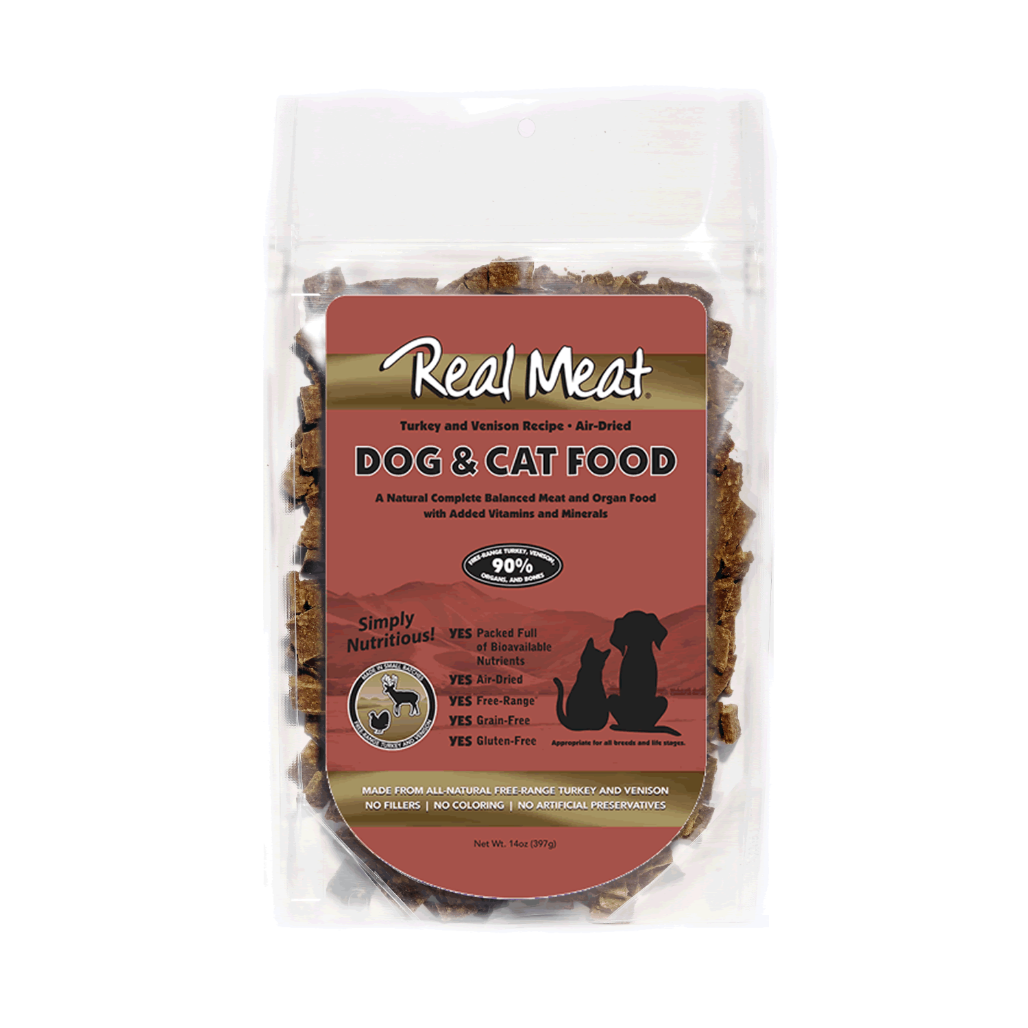 Real Meat Dog and Cat Food - Turkey and Venison