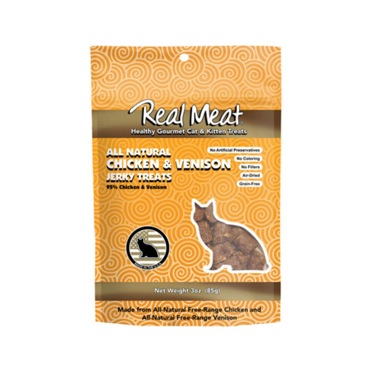 Real Meat Jerky Cat Treat - Chicken & Venison