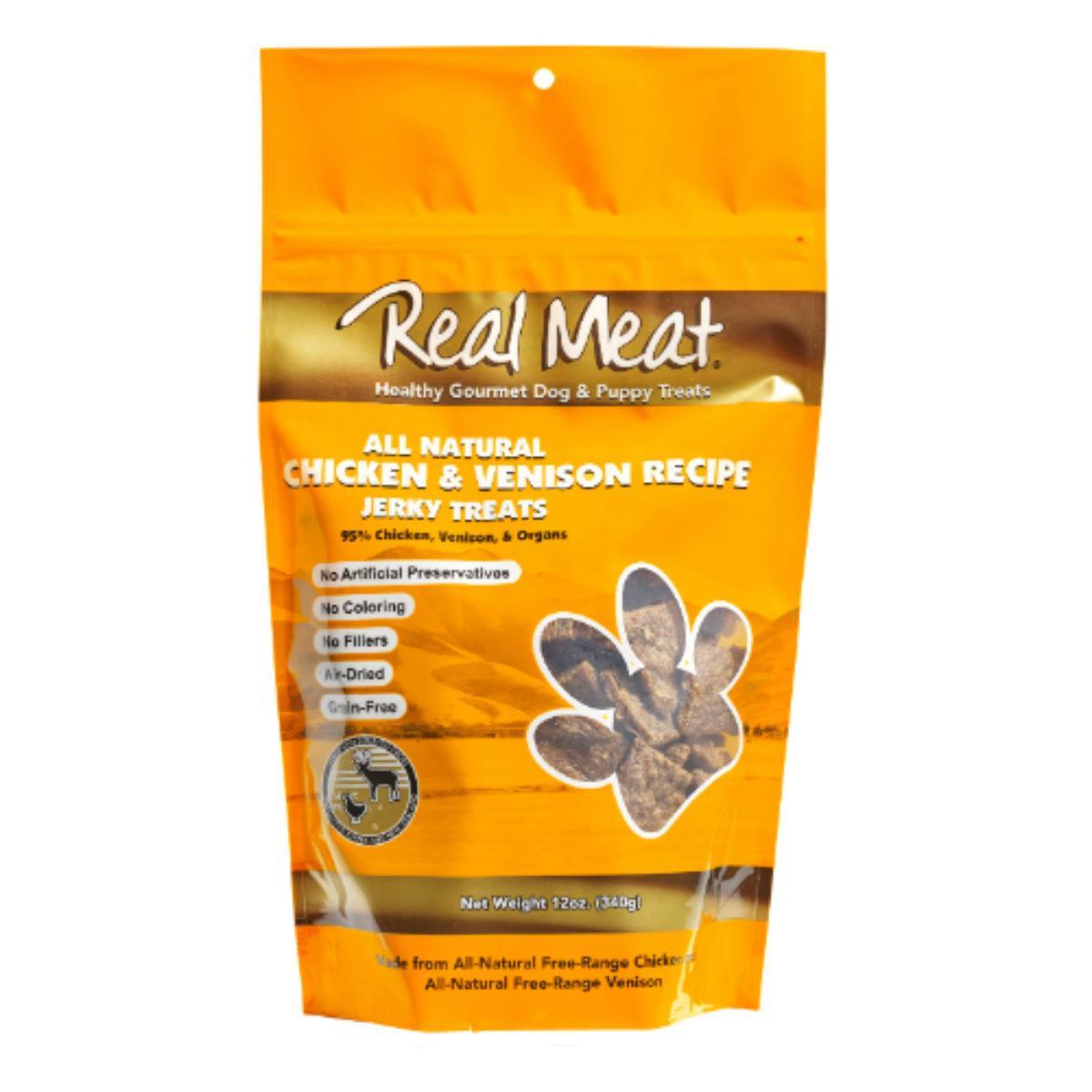 Real Meat Chicken & Venison Bitz Jerky Dog Treats