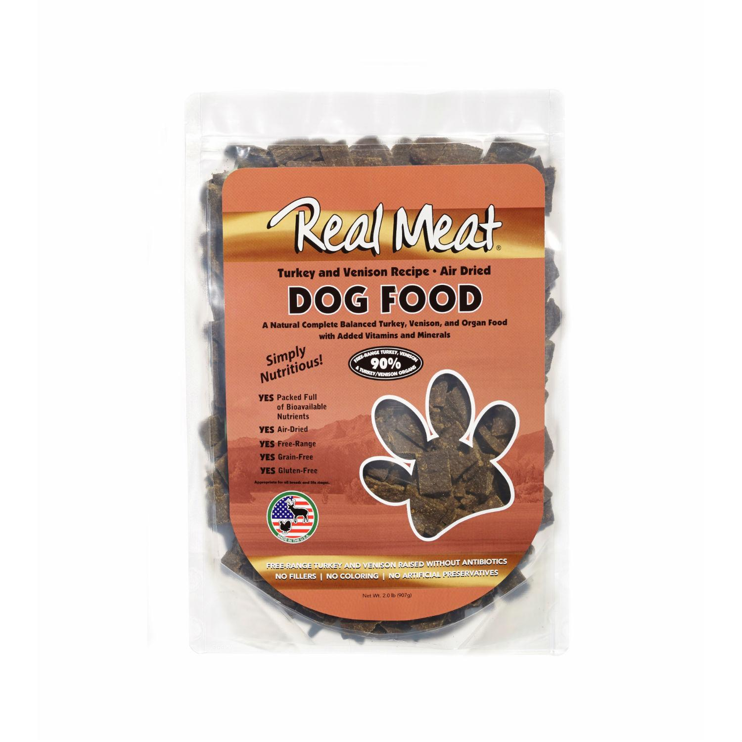 Real Meat Turkey and Venison Dog Food