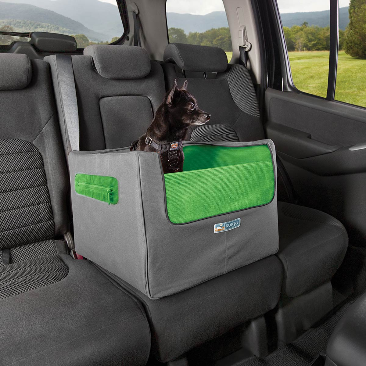 Rear Skybox Dog Booster Seat By Kurgo Green Baxterboo