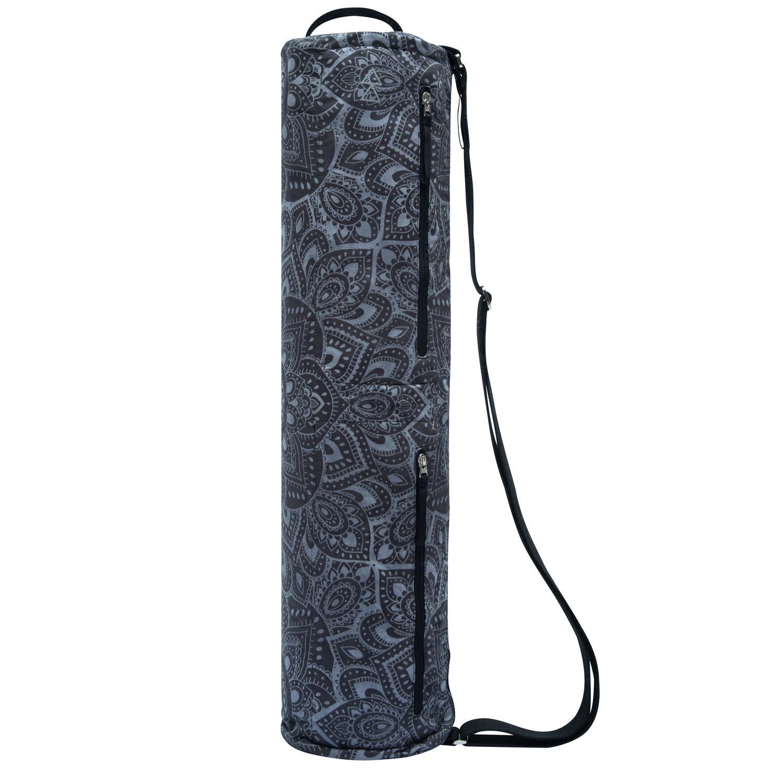 Recycled PET Yoga Mat Bags - Mandala Charcoal