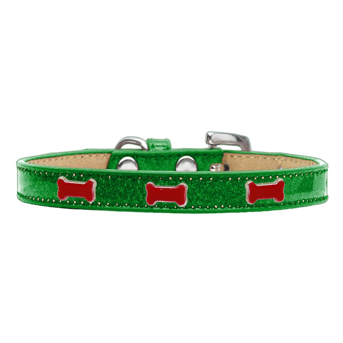 Red Bone Widget Dog Collar - Emerald Ice Cream