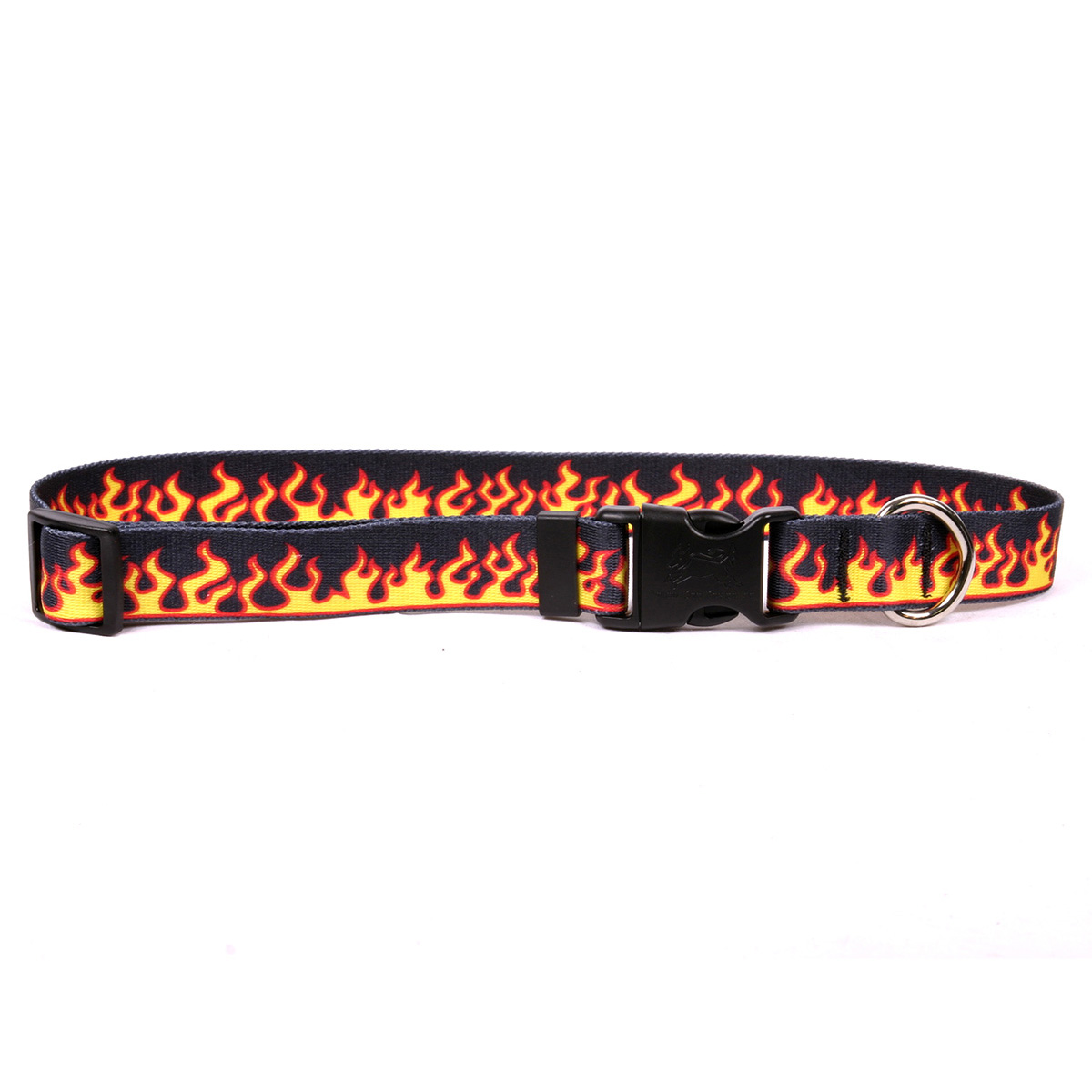 Red Flames Dog Collar by Yellow Dog