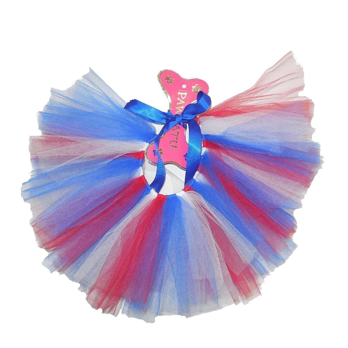 Red, White, and Blue Tulle Dog Tutu
