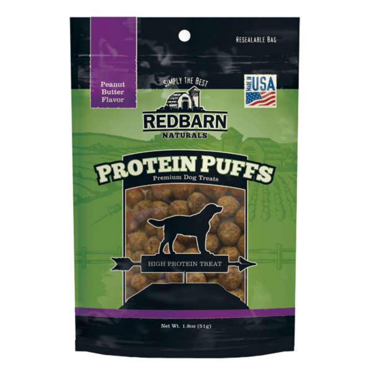 Redbarn Protein Puffs Dog Treat - Peanut Butter