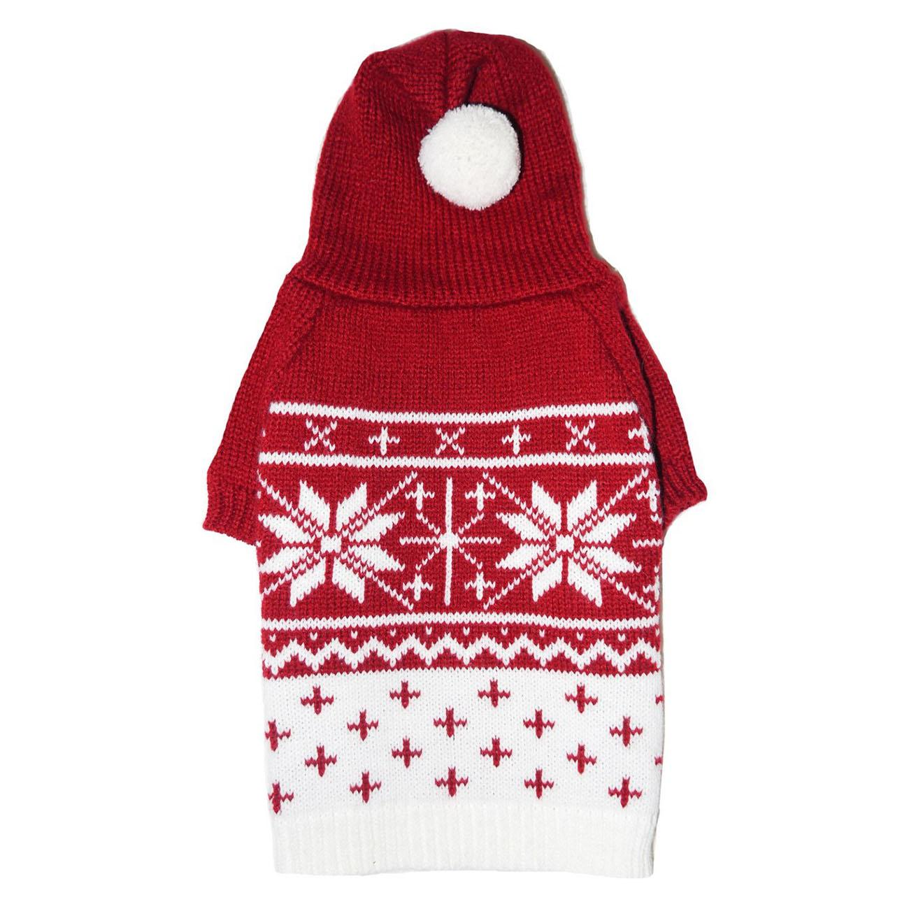 Reese Dog Sweater Hoodie by Pooch Outfitters - Red