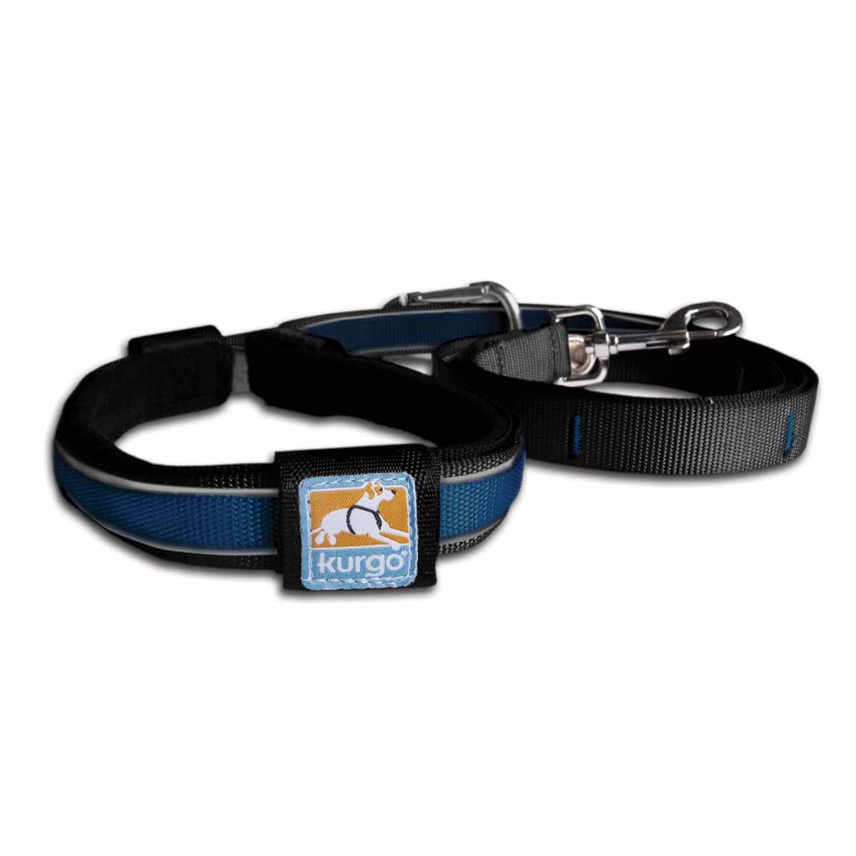 Reflect and Protect Quantum Dog Leash by Kurgo - Coastal Blue