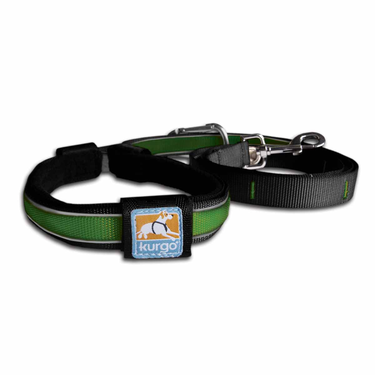 Reflect and Protect Quantum Dog Leash by Kurgo - Grass Green