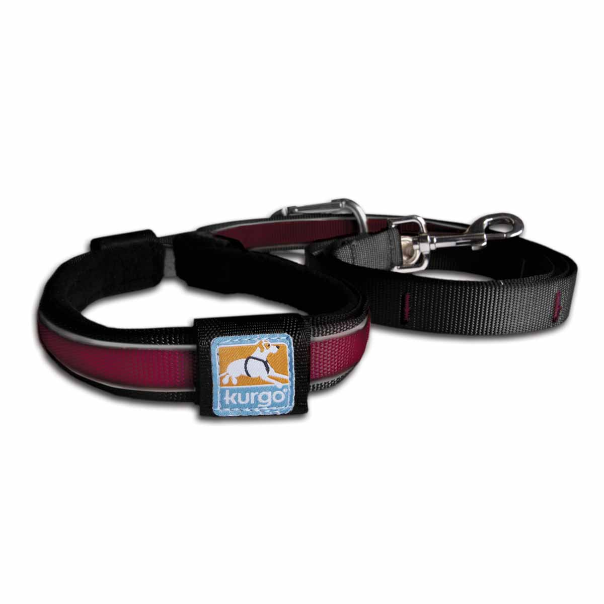 Reflect and Protect Quantum Dog Leash by Kurgo - Raspberry