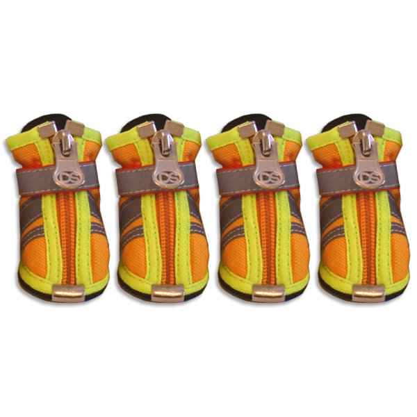 Reflector Dog Boots - Orange