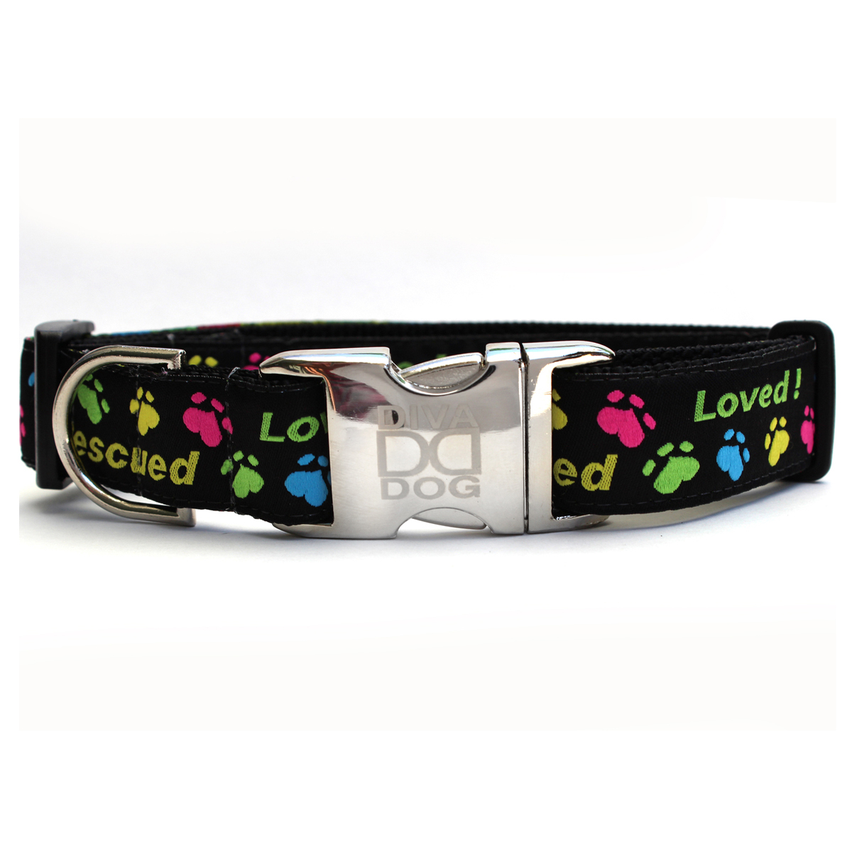 Rescue Me Dog Collar by Diva Dog