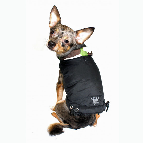 85395c507389c Reversible Camo Puffer Dog Vest by Hip Doggie | BaxterBoo