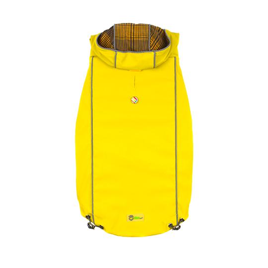Reversible Elasto-Fit Dog Raincoat - Yellow