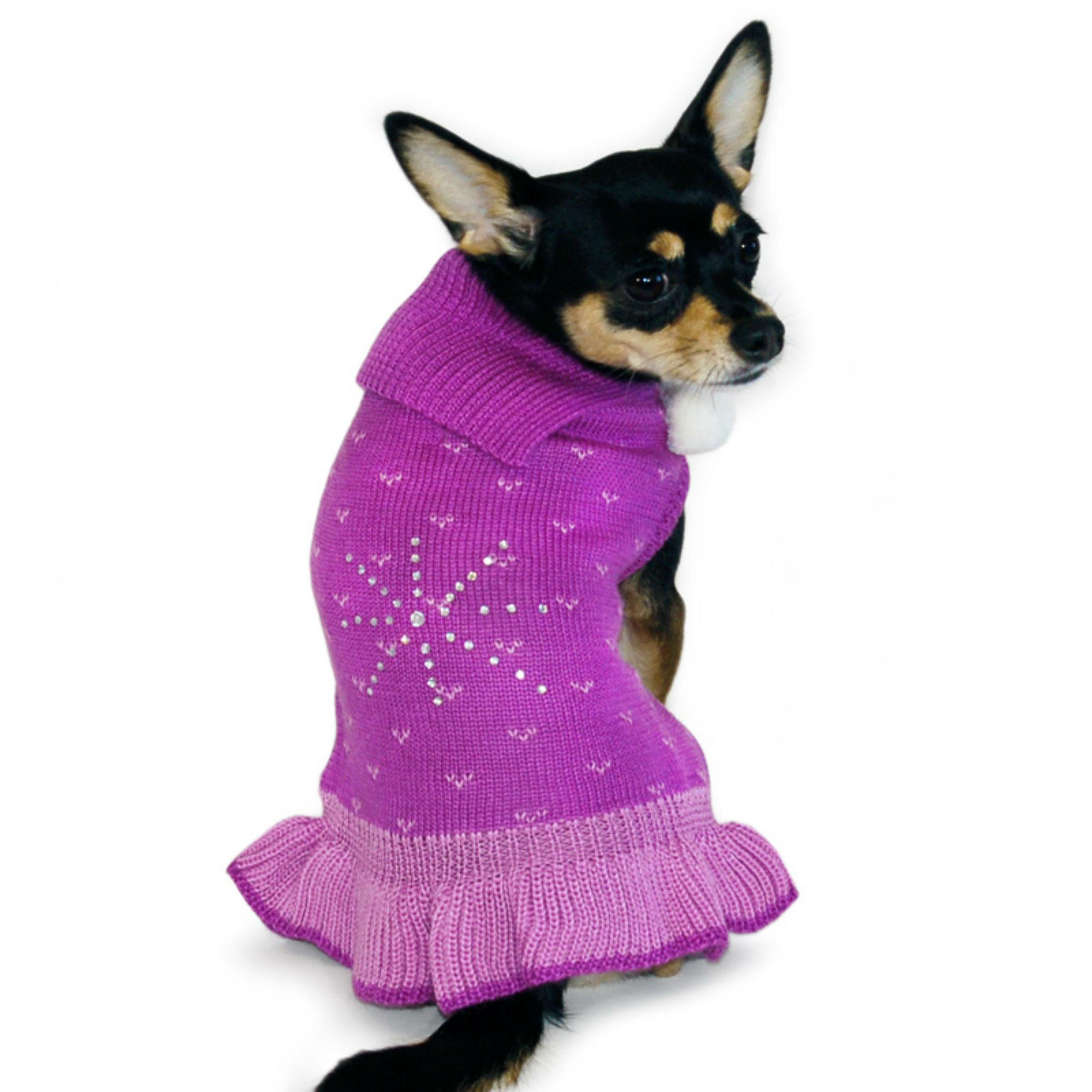 153f55713c8c Rhinestone Snowflake Dog Sweater Dress by Dog...