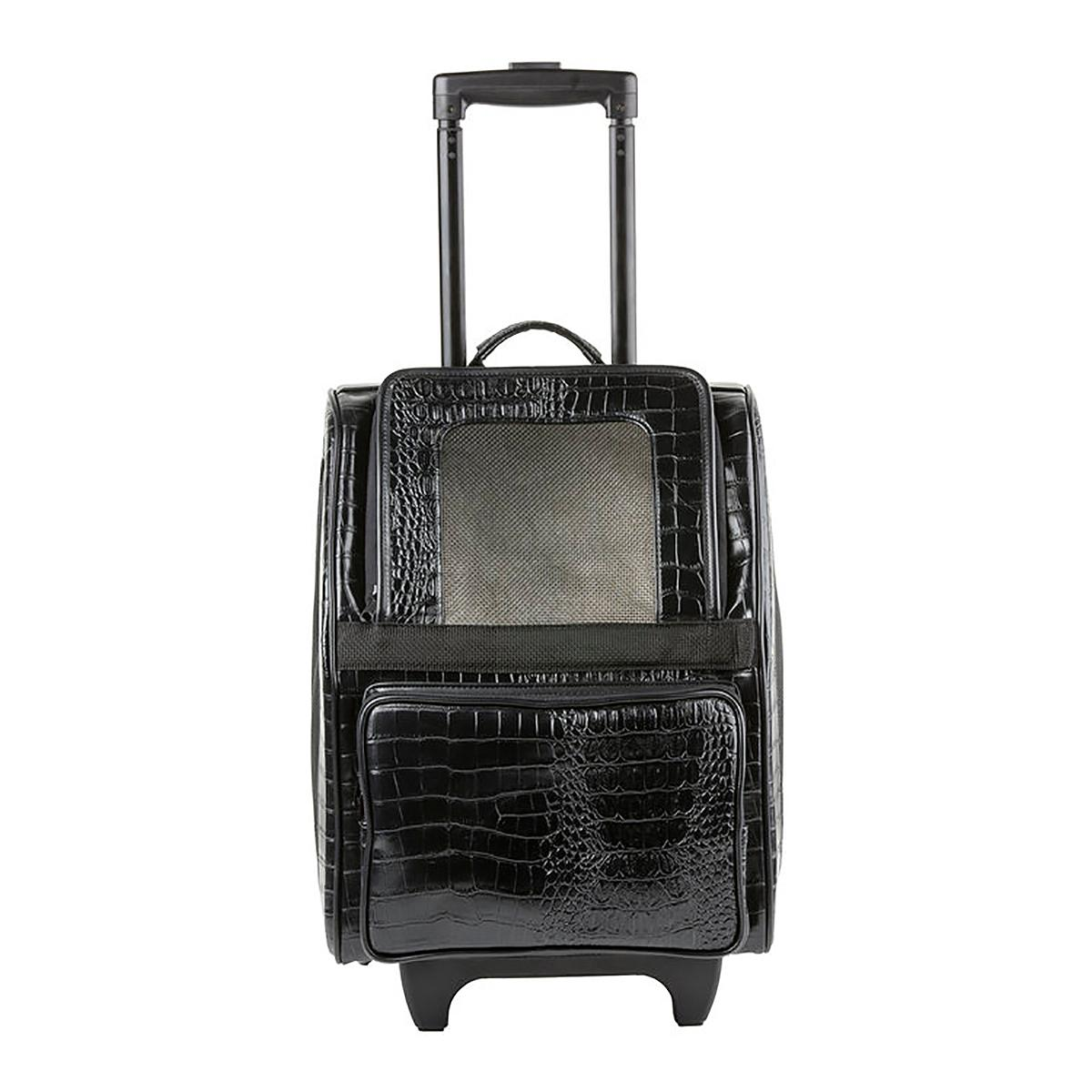Rio Rolling Dog Backpack Carrier - Black Croco