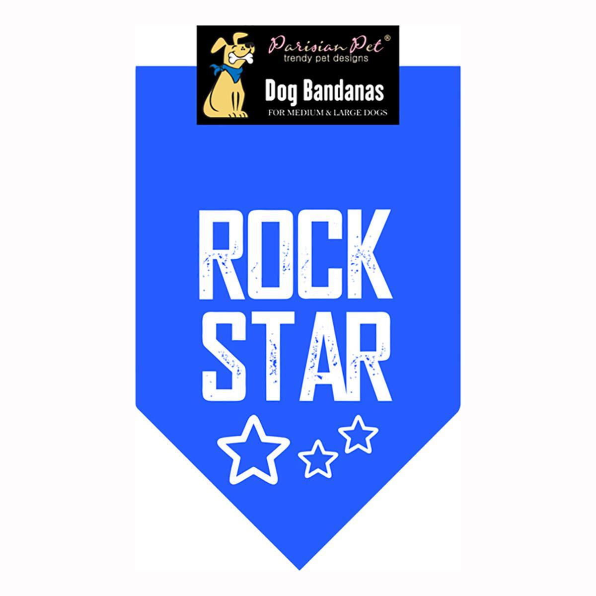 Rock Star Dog Bandana - Blue
