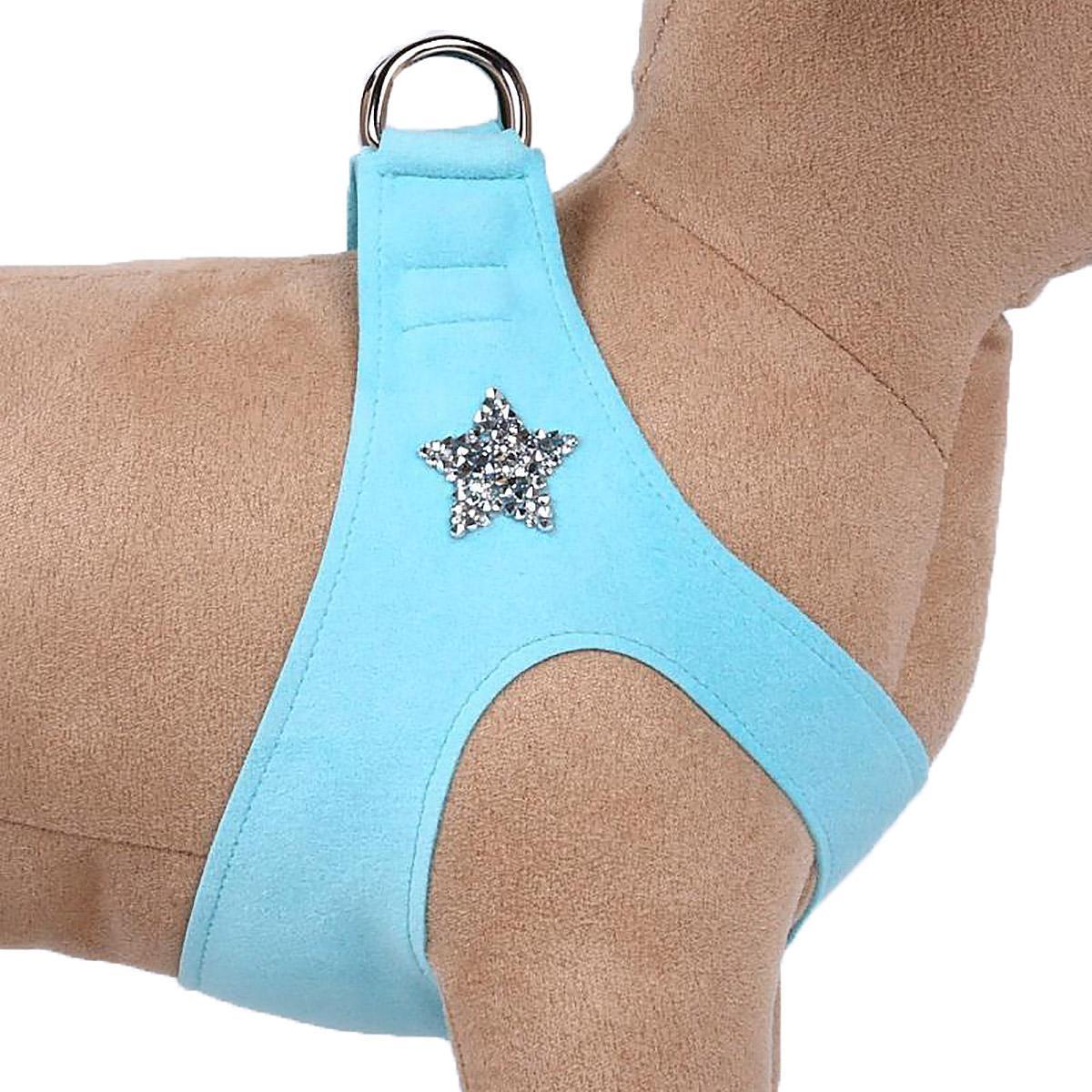 Rock Star Step-In Dog Harness by Susan Lanci - Tiffi Blue