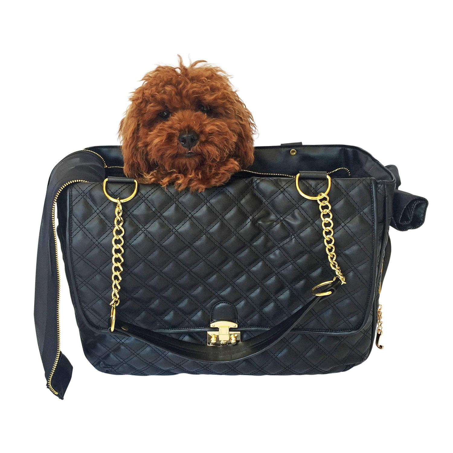 Rodeo Signature Quilted Dog Travel Carrier - Black