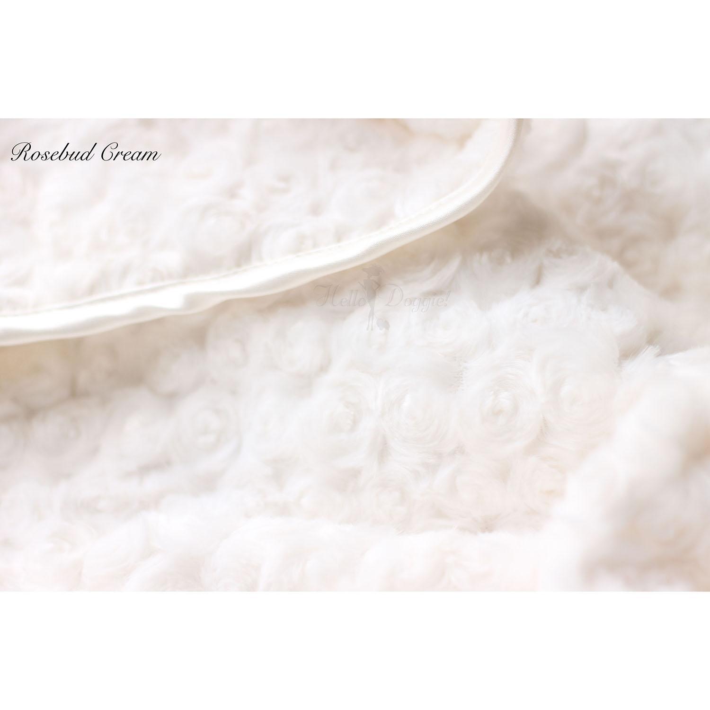 Rosebud Pet Blanket by Hello Doggie - Cream