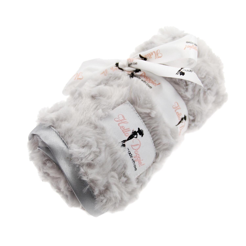 Rosebud Pet Blanket by Hello Doggie - Silver