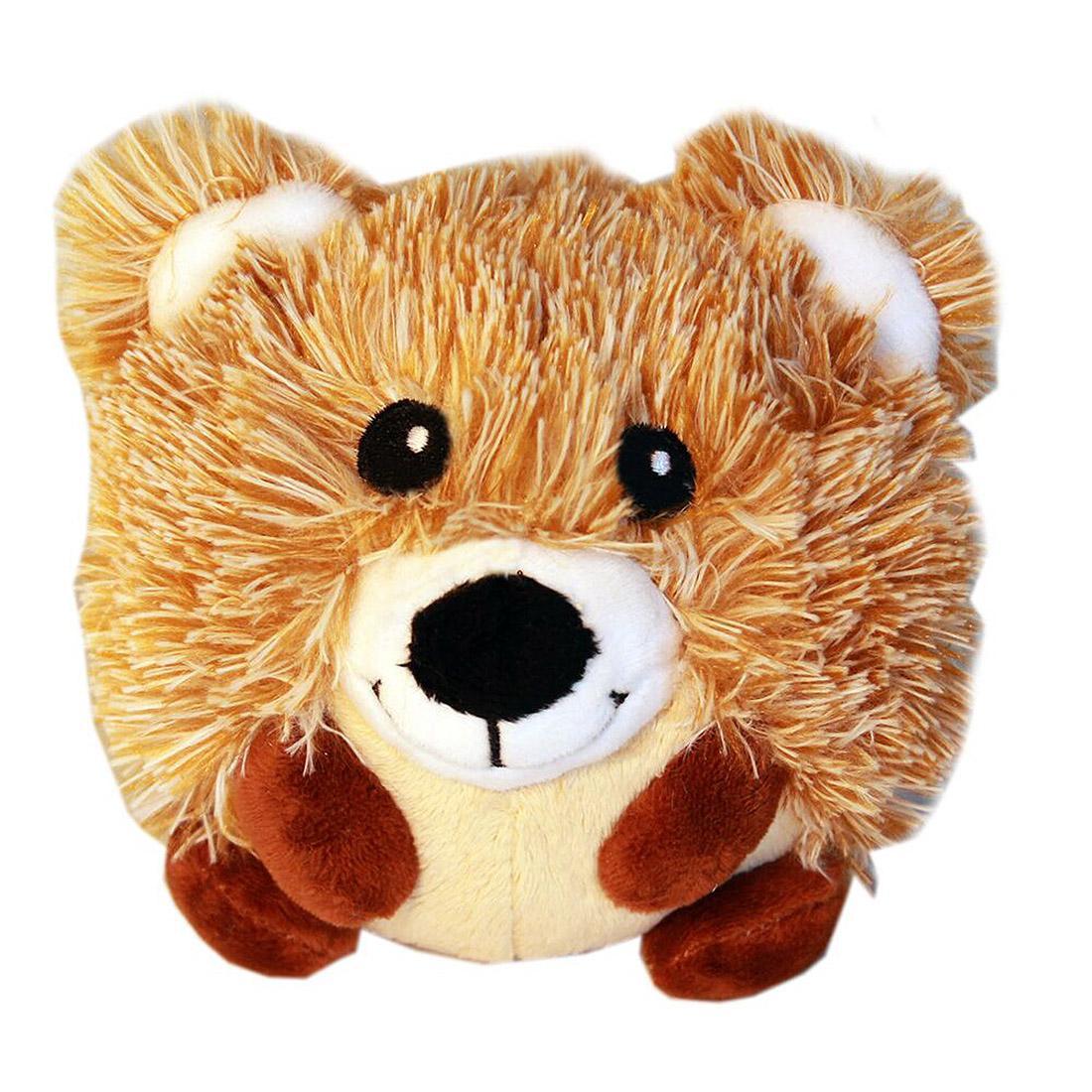 Roundimal Squeaky Dog Toy - Bear